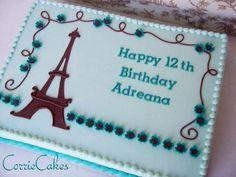 eiffel tower birthday - Cake by Corrie - CakesDecor