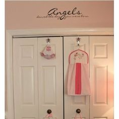 Amazon.com: Angels Danced the Day You Were Born (30x7black) all Appliqué quote wall sayings: Home & Kitchen