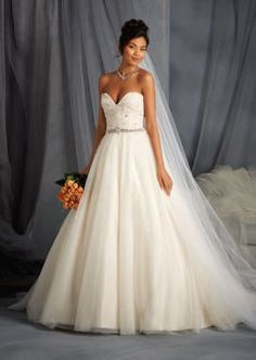 Net Overlay Affordable Wedding Dress with Sweetheart Neckline