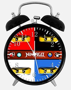 """New Lego Ninjago Ninja Alarm Desk Clock 3.75\"""" Room Decor W418 will Be a Nice Gift * Click image to review more details."""