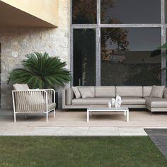 Nido hand-woven modular sofa by Javier Pastor for Expormim | interior design, designer furniture, outdoor furniture, outdoor sofa, outdoor lounge
