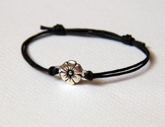 Flower Bracelet with double threads / Flower Anklet (24 colors) | greenduckweed - Jewelry on ArtFire