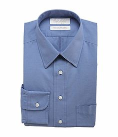 af8299aead Grooms Men Dress Shirts · Gold Label Roundtree and Yorke NonIron Fitted  Point Collar Dress Shirt  Dillards Collar Dress