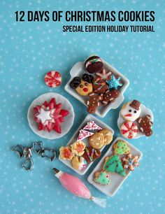 Polymer Clay Tutorial - How to Sculpt Miniature Christmas Cookies Miniature Sweets Tutorial