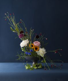 One of the arrangements created during Dutch Masters Floral Workshop at London Flower School