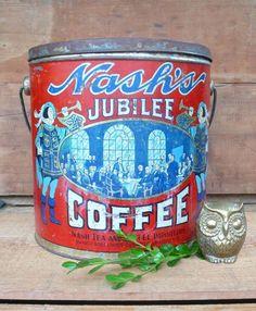 Vintage Coffee Tin $25