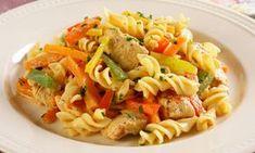 Macarrão na pressão com frango e legumes | MdeMulher