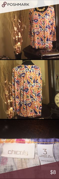 Chicos Top Beautiful Chicos Top size 3 Chico's Tops Blouses