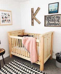 Handcrafted crib by @woodgraincompany  Shop // woodgrainco.etsy.com by nativehandcraft