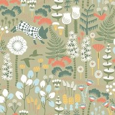 Borastapeter Hoppmosse Wallpaper - 1451 - Wonderland by Hanna Werning Collection Tier Wallpaper, Wallpaper Samples, Animal Wallpaper, Wallpaper Roll, Pattern Wallpaper, Brewster Wallpaper, Wallpaper Warehouse, Botanical Wallpaper, Burke Decor
