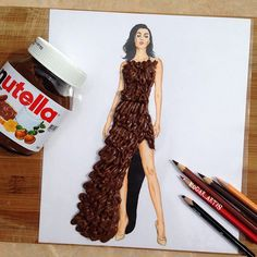 Edgar Artis illustrates paper cut outs that he then clothes with anything he can find in his house. From the banana dress to French fries and ketchup garments, the fashion illustrator doesn't seem to be running out of ideas anytime soon. Which is terrific news for his impressive 400,000 following on Instagram.