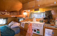 Image detail for -Interior of a 1954 Cardinal vintage travel trailer canned ham.