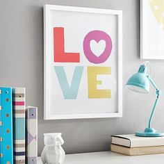Love Multi-Colored Gallery Frame #pbteen - next to bed? - may work with duvet