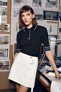 See the complete Misha Nonoo Spring 2017 Ready-to-Wear collection. Polo Shirt Outfit Women's, Polo Shirt Women, Polo Shirts, Cute Spring Outfits, Cute Outfits For School, Classy Outfits, Casual Outfits, Fashion Outfits, Fashion Tips