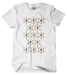Amazon.com   Save the Bees T-Shirts, BEE Honeycomb, Unisex 100% Organic  Cotton (Large)   Sports   Outdoors bce6299cdb