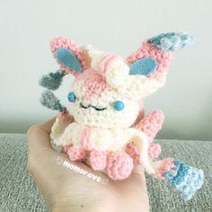 Pokemon Derpy Sylveon Crochet/Amigurumi by momorave on Etsy