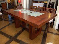 Mesa micaela mesa de centro estructura en madera de for Diseno de mesa de madera con vidrio