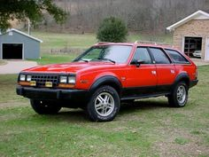 '81 AMC Eagle Wagon ... w/ a 258 straight six, automatic. Always liked these.