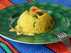 Tortini di Couscous Speziato con Zucchine e Gamberetti