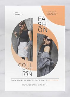 Fashion Collection Flyer Lily presents Fashion Collection Flyer Spesification : * Ai & Psd file * Well organized layers * Graphic Design Flyer, Brochure Design, Graphic Design Inspiration, Flyer And Poster Design, Booklet Design, Fashion Graphic Design, Flugblatt Design, Design Logo, Instagram Design