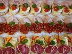 Chlebíčky – These open-face sandwiches are a cornerstone of Czech cuisine. Find the traditional classics at Jan Paukert and the gourmet versions at Sisters Bistro. Czech Recipes, Tea Recipes, Snack Recipes, Snacks, Open Faced Sandwich, Goat Cheese Salad, Appetisers, Creative Food, Food Presentation