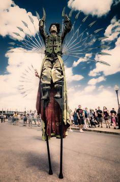 steampunk stilt walker - Google Search