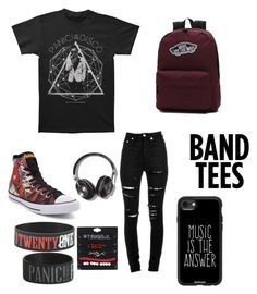 """Band Nerds <3"" by emoway ❤ liked on Polyvore featuring Yves Saint Laurent, Vans, Converse, Hot Topic and Casetify"