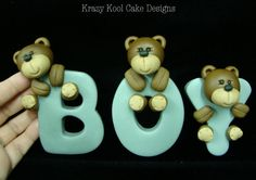 Teddy Bear Cake Topper by KrazyKoolCakeDesigns on Etsy, $65.00