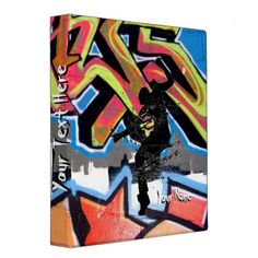 Hip Hop Graffiti Dancer Personalized Binders