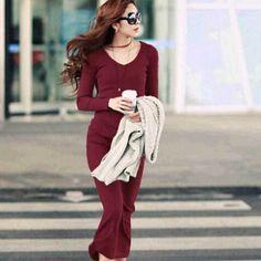 Elegant V-Neck Dress