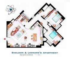 Artista também desenhou o apartamento de Sheldon e Leonard, personagens da série americana The Big Bang Theory