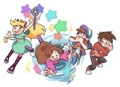 Star vs. the Forces of Evil,crossover,Dipper Pines,Mabel Pines,Star Butterfly,Marco Diazt