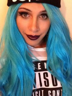 Smokey eye - Mac Black Tied Ardell Stacked Lashes #43 Mac Lipstick - Cyber  Cheeks - Nars Laguna  #glamsolovely #bluehair #lacewig #maccosmetics #goth #dark #deviant #makeup #makeupartist #makeuplook #greeneyes #bronzed #smokeyeye #glam