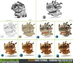 Tutorial Step by Step: Cerberus Pug by ConceptCookie