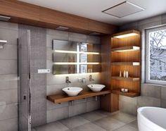 Aranżacje wnętrz - Łazienka: Elegancja i nowoczesność w odcieniach szarości - Średnia łazienka na poddaszu w domu jednorodzinnym, styl nowoczesny - Manufaktura Projektów. Przeglądaj, dodawaj i zapisuj najlepsze zdjęcia, pomysły i inspiracje designerskie. W bazie mamy już prawie milion fotografii!