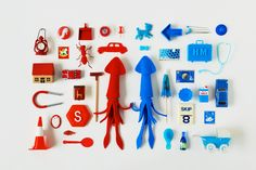 https://www.behance.net/gallery/28815297/Miniature-Collage-Red-Squid-Blue-Squid
