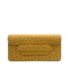 Maman Mini Yellow - Ostrich Leather Crossbody Bag | MIRTA