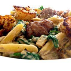SSPCS ::: Spicy Shrimp and Sausage Pasta in Cream Sauce
