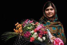 Good News 2014 Pakistani rights activist Malala Yousafzai in Birmingham, England on October 10, 2014. - Oli Scarff/AFP/Getty Images