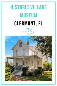 The Historic Village Museum in Clermont, Fl is a great representation of the town's history. There are many buildings that have been part of the community since the beginning. It's a great outing for all ages. Clermont Florida, Florida Living, Florida Travel, Central Florida, Winter Garden, Orlando, Buildings, Real Estate, Museum