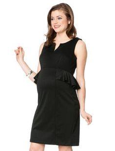 Motherhood Maternity peplum dress