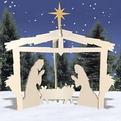 Woodcrafting Plans and Patterns, Yard Art Patterns, Tools and Supplies by Sherwood Creations Pläne u Outdoor Nativity Scene, Diy Nativity, Christmas Nativity Set, Christmas Yard Art, Christmas Wood, Outdoor Christmas Decorations, Christmas Projects, All Things Christmas, Holiday Crafts