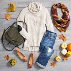 How do you fix distressed denim? With a pumpkin patch! Fall Saturdays call for cozy kn... | Use Instagram online! Websta is the Best Instagram Web Viewer!