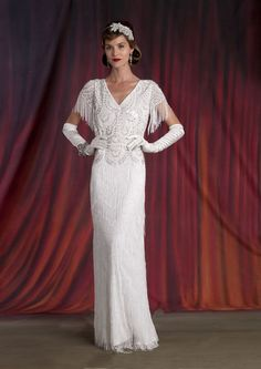 Eliza Jane Howell Wedding Dresses are exquisite in detail - show your vintage glamour puss and choose to be decadent on your special day! Vintage Style Wedding Dresses, Vintage Bridal, Vintage Glamour, Wedding Dress Styles, Wedding Suits, Designer Wedding Dresses, Wedding Gowns, 1930s Wedding, Wedding Girl
