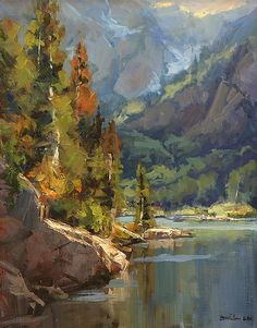 Mountain Haze by Bill Davidson - Greenhouse Gallery of Fine Art