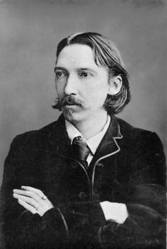 On the Robert Louis Stevenson died, Scottish novelist of Treasure Island, Kidnapped and Dr Jekyll & Mr Hyde. He died probably from a brain haemorrhage on the Island of Samoa aged 45 Long John Silver, Robert Louis Stevenson, Jekyll And Mr Hyde, Writers And Poets, Roman, If Rudyard Kipling, Portraits, Treasure Island, Vintage Movies