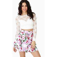 New Bloom Skater Skirt ($38) ❤ liked on Polyvore