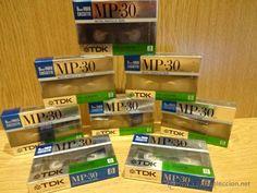 CINTA VIRGEN PARA VIDEOCÁMARA. TDK - MP-30 /  VIDEO CASSETTE - PACK DE 8. PRECINTADAS.