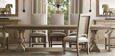 St. James Dining Table | Restoration Hardware-- another great table option
