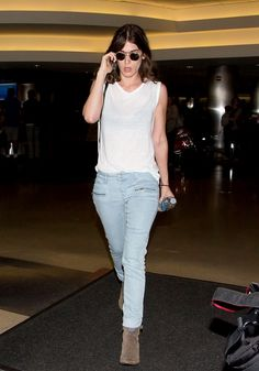 Lizzy Caplan seen at LAX